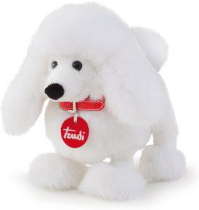 Peluche de Caniche blanco de Trudi de 20 cm - Los mejores peluches de caniches - Peluches de perros
