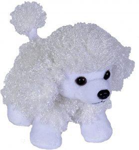 Peluche de Caniche blanco de Wild Republic de 18 cm - Los mejores peluches de caniches - Peluches de perros
