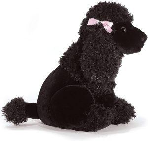 Peluche de Caniche negro de Plush and Company de 30 cm - Los mejores peluches de caniches - Peluches de perros