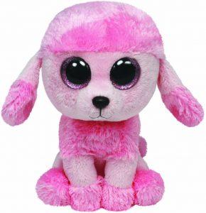 Peluche de Caniche princesa rosa de Ty de 15 cm - Los mejores peluches de caniches - Peluches de perros
