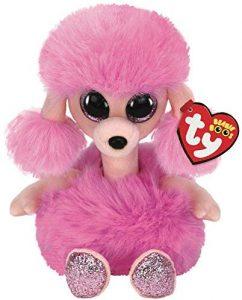 Peluche de Caniche rosa de Ty de 15 cm - Los mejores peluches de caniches - Peluches de perros