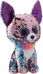 Peluche de Chihuahua de lentejuelas de Ty de 23 cm - Los mejores peluches de Chihuahuas - Peluches de perros
