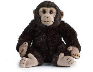 Peluche de Chimpancé de Living Nature de 30 cm - Los mejores peluches de chimpances - Peluches de animales