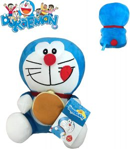 Peluche de Doraemon con merienda de 20 cm de Play by Play - Los mejores peluches de Doraemon - Peluches de personajes de gato de Doraemon