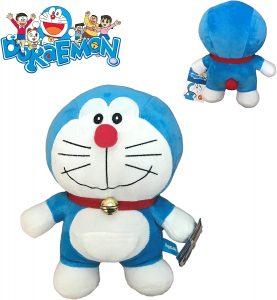 Peluche de Doraemon de 25 cm de Bandai - Los mejores peluches de Doraemon - Peluches de personajes de gato de Doraemon