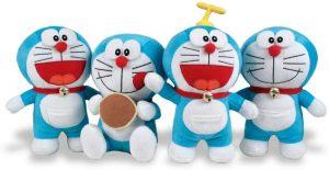 Peluche de Doraemon de 30 cm aleatorio - Los mejores peluches de Doraemon - Peluches de personajes de gato de Doraemon