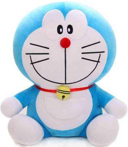 Peluche de Doraemon de 65 cm de HUOQILIN - Los mejores peluches de Doraemon - Peluches de personajes de gato de Doraemon