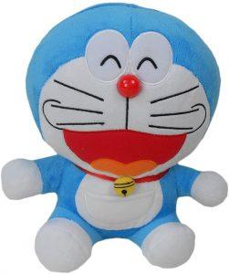 Peluche de Doraemon feliz de 25 cm - Los mejores peluches de Doraemon - Peluches de personajes de gato de Doraemon
