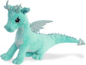 Peluche de Dragón azul celeste de Aurora de 31 cm - Los mejores peluches de dragones - Peluches de animales