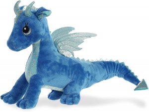 Peluche de Dragón azul de Aurora de 35 cm - Los mejores peluches de dragones - Peluches de animales