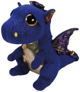 Peluche de Dragón azul de Ty de 23 cm - Los mejores peluches de dragones - Peluches de animales