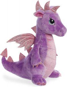 Peluche de Dragón morado de Aurora de 31 cm - Los mejores peluches de dragones - Peluches de animales