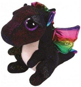 Peluche de Dragón negro de Ty de 15 cm - Los mejores peluches de dragones - Peluches de animales