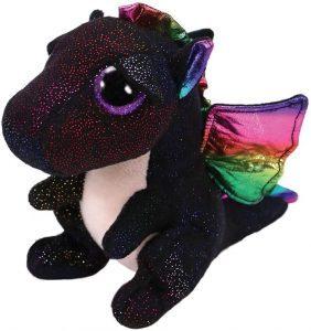 Peluche de Dragón negro de Ty de 24 cm - Los mejores peluches de dragones - Peluches de animales