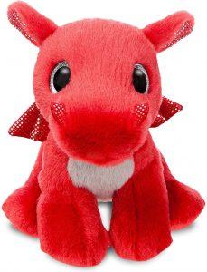 Peluche de Dragón rojo de Aurora de 18 cm - Los mejores peluches de dragones - Peluches de animales