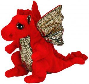 Peluche de Dragón rojo de Ty de 30 cm - Los mejores peluches de dragones - Peluches de animales