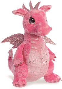 Peluche de Dragón rosa de Aurora de 31 cm - Los mejores peluches de dragones - Peluches de animales