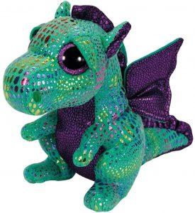 Peluche de Dragón verde de Ty de 23 cm - Los mejores peluches de dragones - Peluches de animales