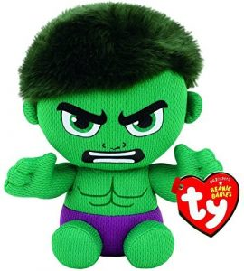 Peluche de Hulk de Ty de 15 cm - Los mejores peluches de Hulk - Peluches de superhéroes de Marvel