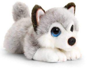 Peluche de Husky de Keel Toys de 25 cm - Los mejores peluches de huskys- Peluches de perros
