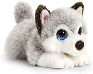 Peluche de Husky de Keel Toys de 32 cm - Los mejores peluches de huskys- Peluches de perros