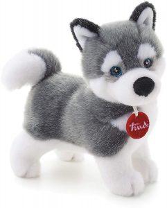 Peluche de Husky de Trudi de 24 cm - Los mejores peluches de huskys- Peluches de perros