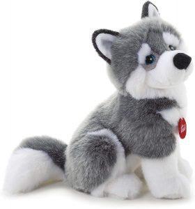 Peluche de Husky de Trudi de 34 cm - Los mejores peluches de huskys - Peluches de perros