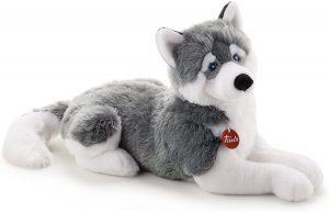 Peluche de Husky de Trudi de 60 cm - Los mejores peluches de huskys- Peluches de perros