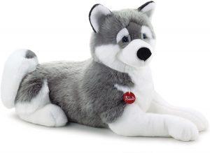 Peluche de Husky de Trudi de 80 cm - Los mejores peluches de huskys- Peluches de perros