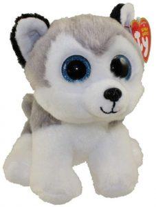 Peluche de Husky de Ty de 15 cm 2 - Los mejores peluches de huskys- Peluches de perros