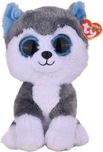 Peluche de Husky de Ty de 23 cm - Los mejores peluches de huskys- Peluches de perros