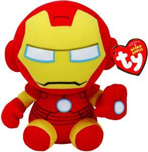 Peluche de Iron man de Ty de 15 cm - Los mejores peluches de Iron-man - Peluches de superhéroes de Marvel