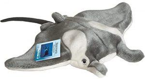 Peluche de Manta Raya Gigante de Hermann Teddy de 40 cm - Los mejores peluches de mantas - Peluches de animales