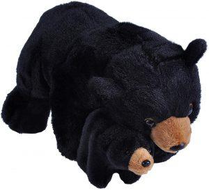 Peluche de Oso Negro y cría de Wild Republic de 38 cm - Los mejores peluches de osos negros americanos - Peluches de animales