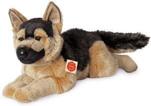 Peluche de Pastor Alemán de Hermann Teddy de 60 cm - Los mejores peluches de pastores alemanes - Peluches de perros