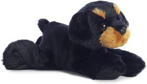 Peluche de Rottweiler de Aurora de 25 cm - Los mejores peluches de rottweilers - Peluches de perros