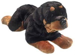 Peluche de Rottweiler de Carl Dick de 40 cm - Los mejores peluches de rottweilers - Peluches de perros
