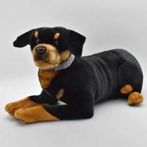 Peluche de Rottweiler de Hansa de 54 cm - Los mejores peluches de rottweilers - Peluches de perros