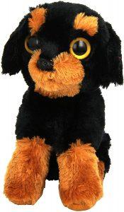 Peluche de Rottweiler de TY de 15 cm - Los mejores peluches de rottweilers - Peluches de perros