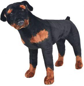 Peluche de Rottweiler de vidaXL de 80 cm - Los mejores peluches de rottweilers - Peluches de perros