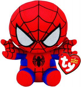 Peluche de Spiderman de 16 cm de Ty - Los mejores peluches de Spider-man - Peluches de superhéroes de Marvel