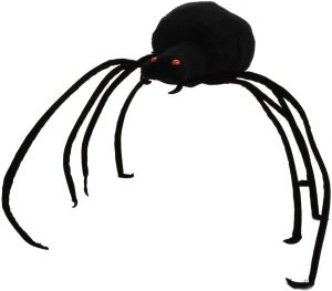 Peluche de araña negra de Trudi de 20 cm - Los mejores peluches de arañas - Peluches de animales