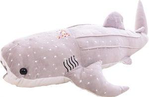 Peluche de ballena gris de Bonways de 100 cm - Los mejores peluches de ballenas - Peluches de animales