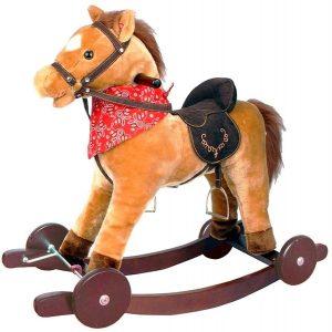 Peluche de caballo balancín de 65 cm 2 - Los mejores peluches de caballos - Peluches de animales