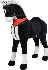 Peluche de caballo de Pink Papaya XXL de 125 cm de Amadeus - Los mejores peluches de caballos - Peluches de animales