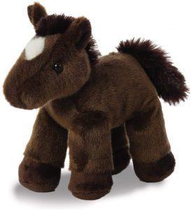 Peluche de caballo marrón de Aurora de 20 cm - Los mejores peluches de caballos - Peluches de animales