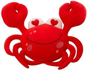 Peluche de cangrejo rojo de DecoBay de 70 cm - Los mejores peluches de cangrejos - Peluches de animales