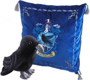 Peluche de cojín de Ravenclaw con cuervo de 34 cm de The Noble Collection - Los mejores peluches de las casas de Hogwarts - Peluches de Harry Potter
