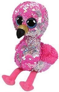 Peluche de flamenco brillante de Ty de 23 cm - Los mejores peluches de flamencos - Peluches de animales