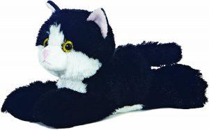 Peluche de gato blanco y negro de Aurora de 20 cm - Los mejores peluches de gatos - Peluches de animales